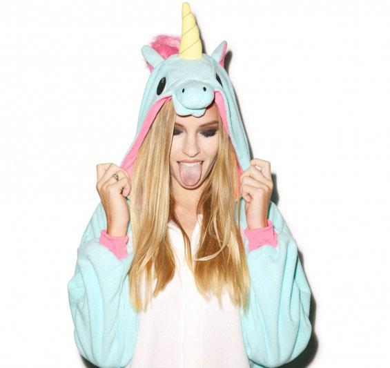 blue unicorn onesie cute