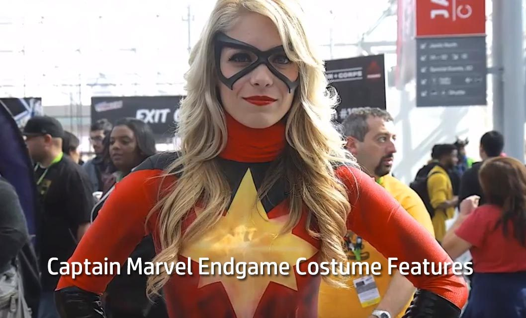 Captain Marvel Endgame Costume Features: The perfect combination of comics and movies